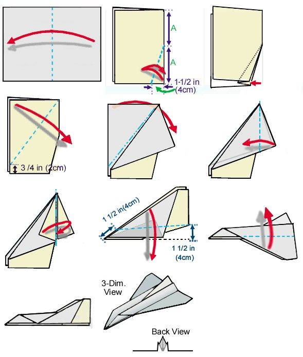 paper airplane patterns