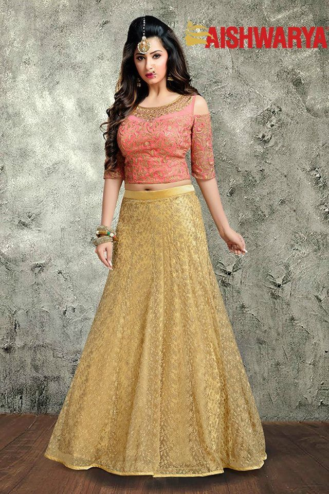 429dcc3baca82b Blouse Neck Designs · Be your own style icon adorning this spectacular  #lehenga tailored with stylish cold shoulder sleeves