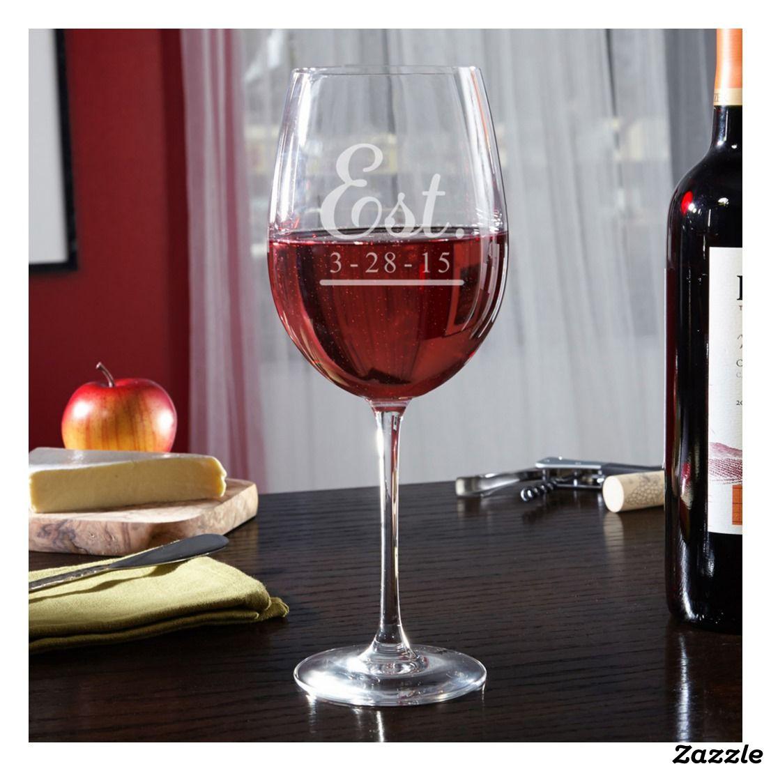 Engraved Well Established 25 Oz Wine Glass Zazzle Com Personalized Wine Glass Wine Glass Mom Wine Glass