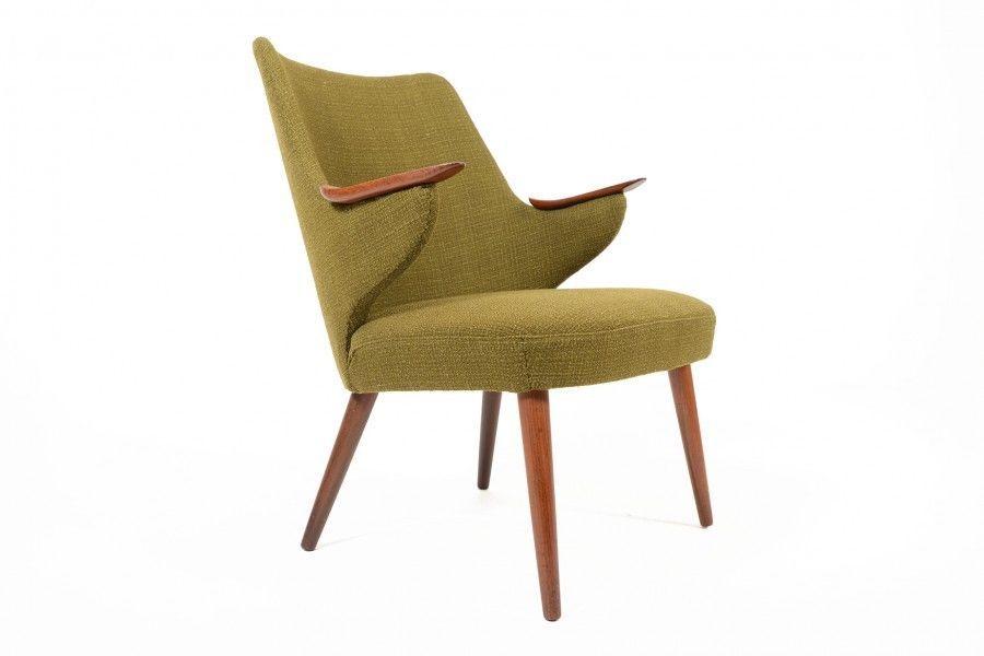 Danish Mid Century Modern Erling Olsen Olive Green Teak Lounge Chair Midcentury Modern Green Lounge Mid Century Modern Furniture