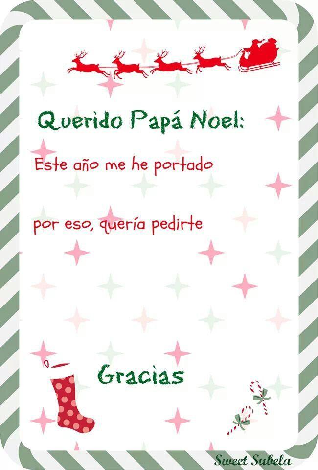 Carta a Papa Noel para imprimir   *Sweetsubela* Printable labels ...