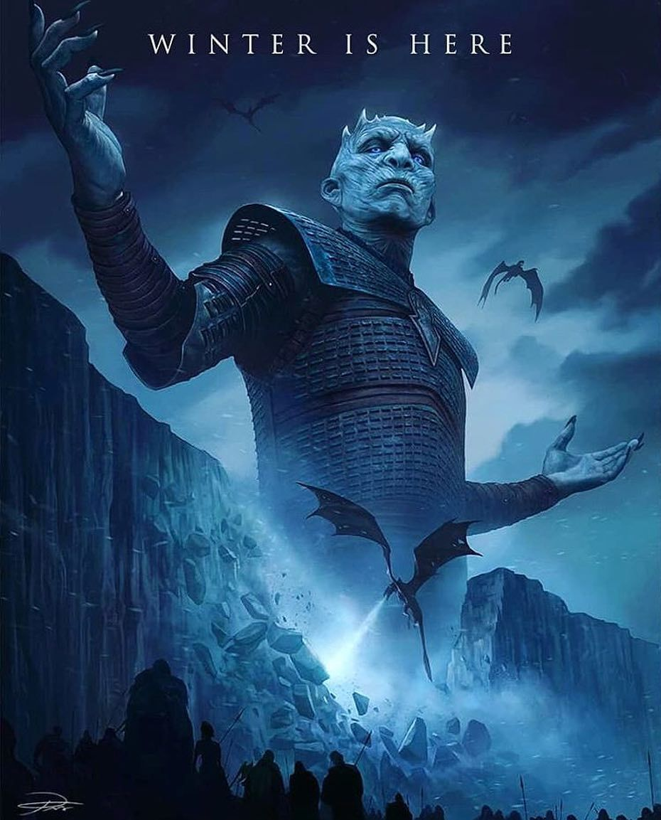 acb9e2dca5 Game of Thrones fanart #NightKing #poster #winterishere #whitewalkers  #GameOfThrones