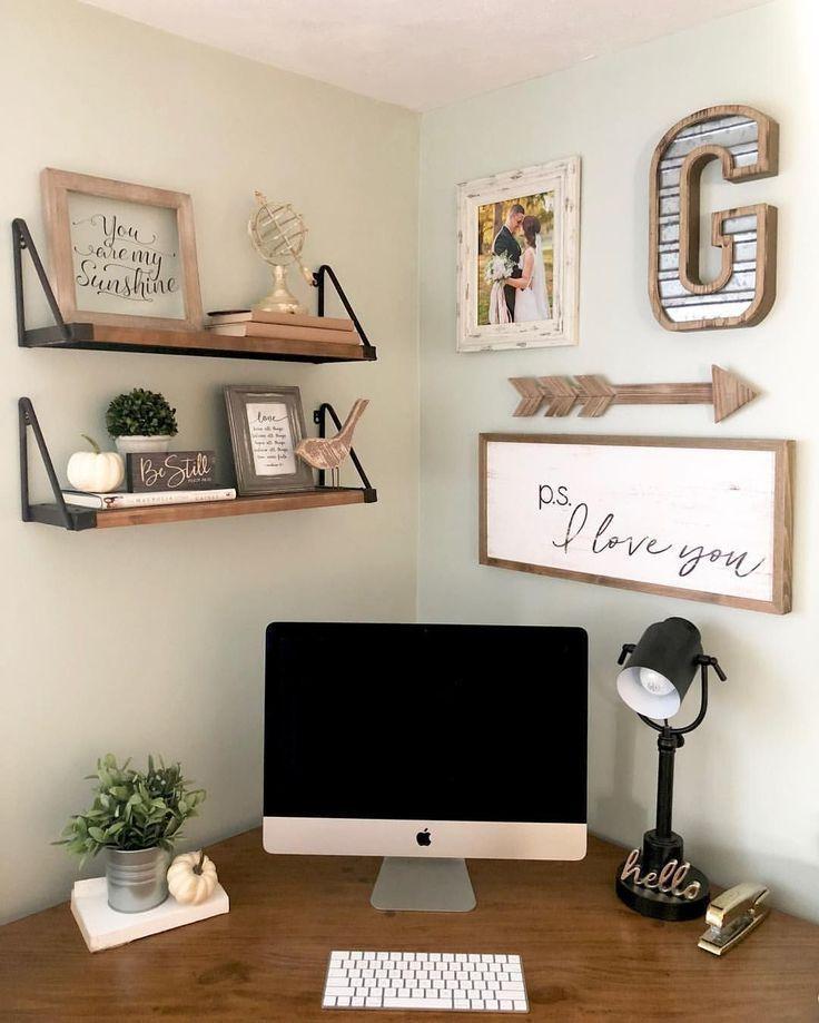27 Möglichkeiten, um ein überraschend stilvolles kleines Home Office zu schaffen … –  #ein … – Office Room