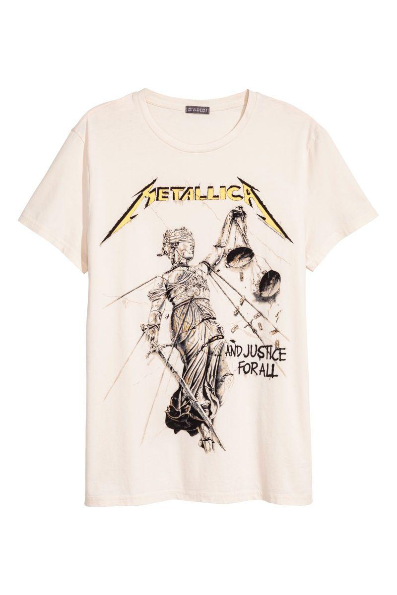 Algodón Hombre De Camiseta Pe En amp;m H Blancometallica Punto qtwAgwO