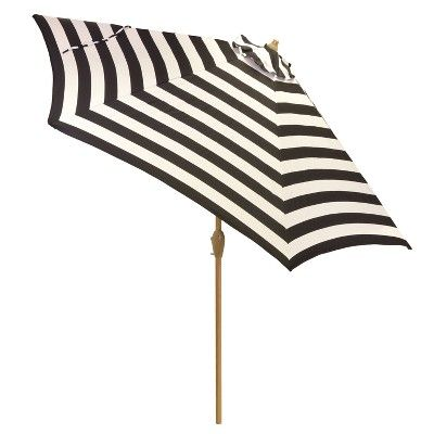 Find Product Information, Ratings And Reviews For 9u0027 Round Patio Umbrella  Mitre Stripe