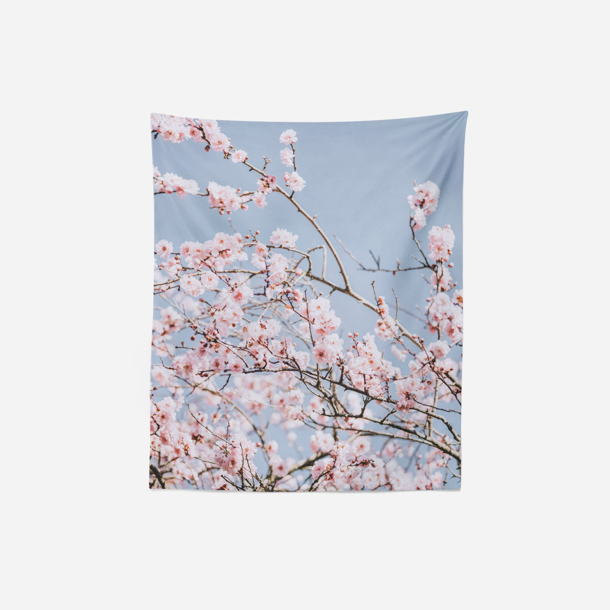 Fl Tapestry Wall Hanging Cherry