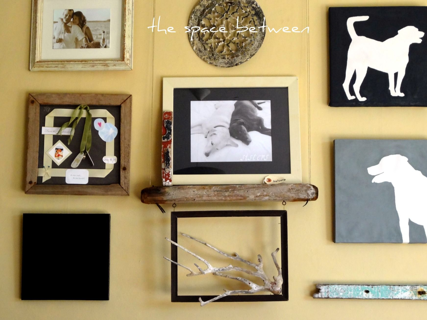 DIY canvas silhouettes {the final steps | Dog silhouette ...