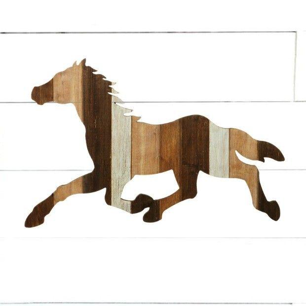 Wood Slat Galloping Horse Wall Art