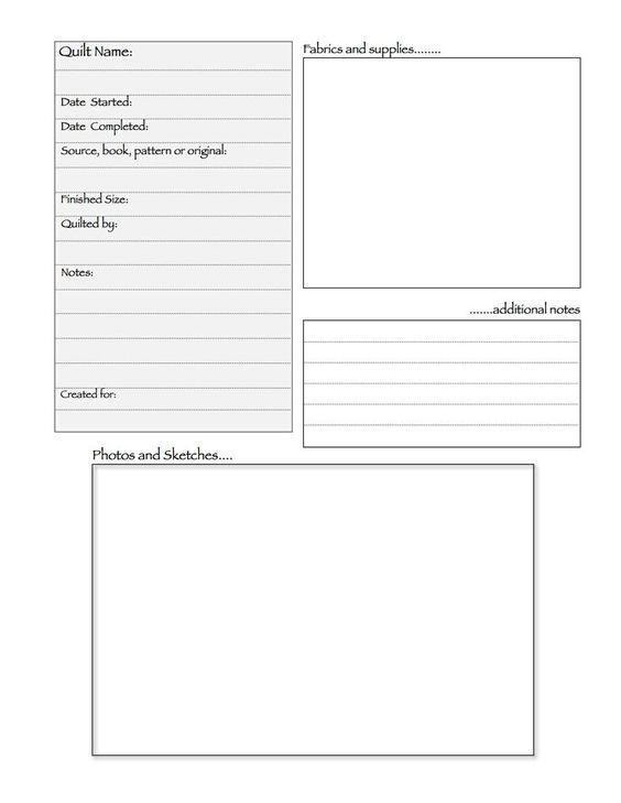Quilt Journal Template Bing Images Quilts Quilt Planner Journal Template