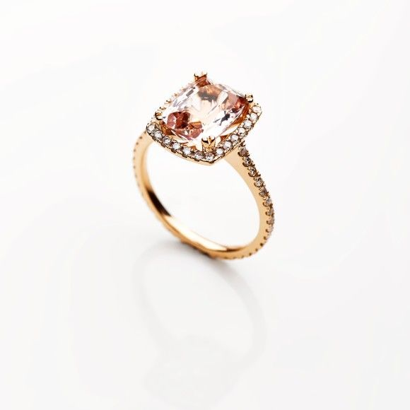 exclusivity by design morganite engagement ring diamonds south