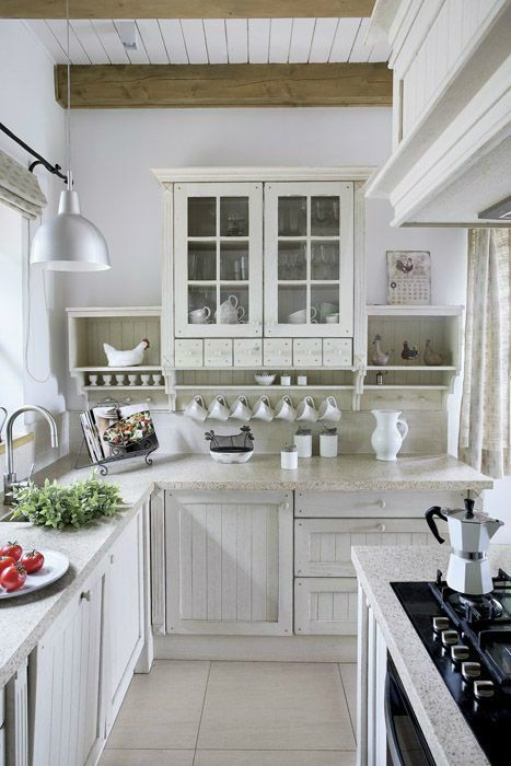 All White Country Kitchen Home Country Kitchen Decorate Farmhouse