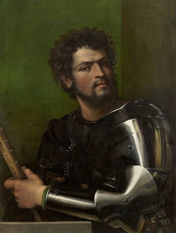 A Man in Armor, ca. 1512 (attributed to Sebastiano del Piombo) (1485-1547) Wadsworth Athenaeum, Hartford, CT, 1960.119