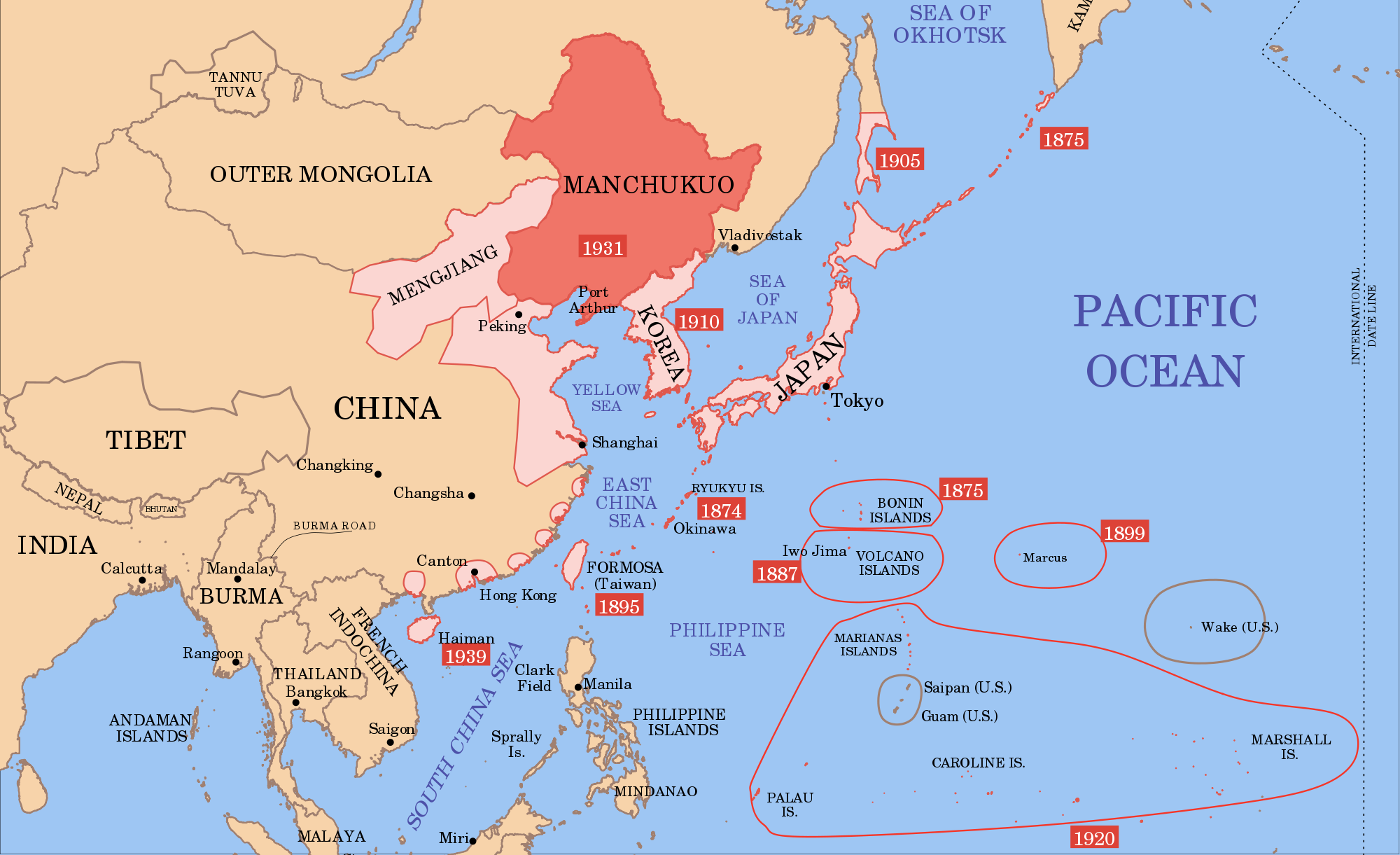 Map Of Asia After Ww2.2000px Manchukuo Map 1939 Svg 1 Map Korea Map Singapore Map Map