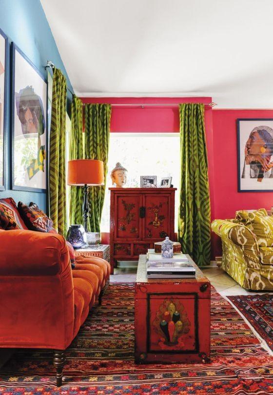Farben Tendenzen Wunderschöne Wohnzimmer Ideen und Inspirationen - wohnzimmer ideen pink