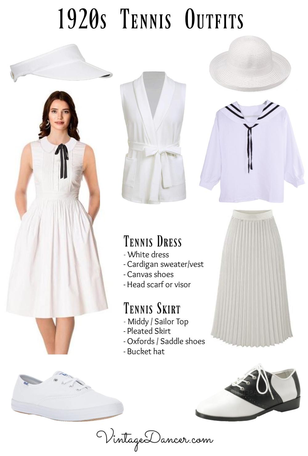 1920s Tennis Outfit Tennis Clothes 20s Tennis Dress Ideas Diy At Vintagedancer Com 1920s Outfits 1920s Fashion Fashion [ 1478 x 1000 Pixel ]