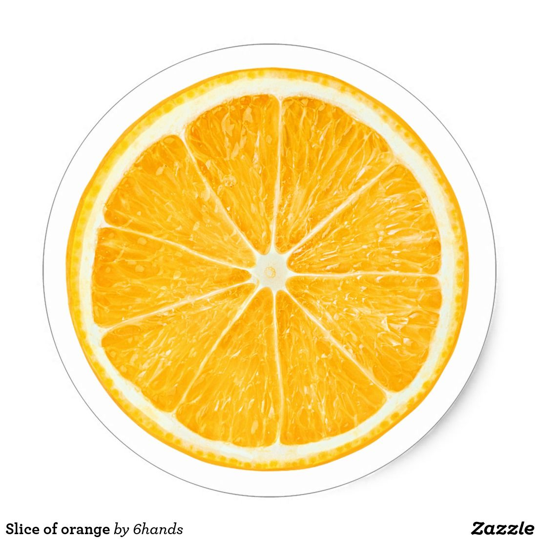 Slice of orange classic round sticker custom stickers with beautiful fruits and vegetables for scrapbooking