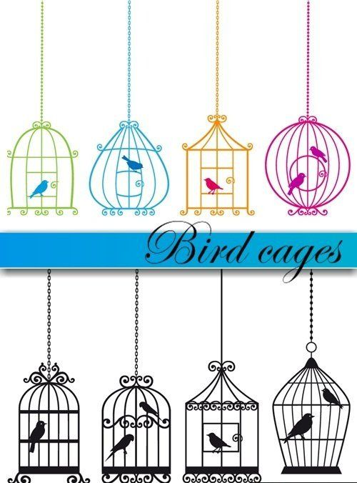 Bird cages | Vector Icon, Vector Background, Vector Abstract And Vector Illustration