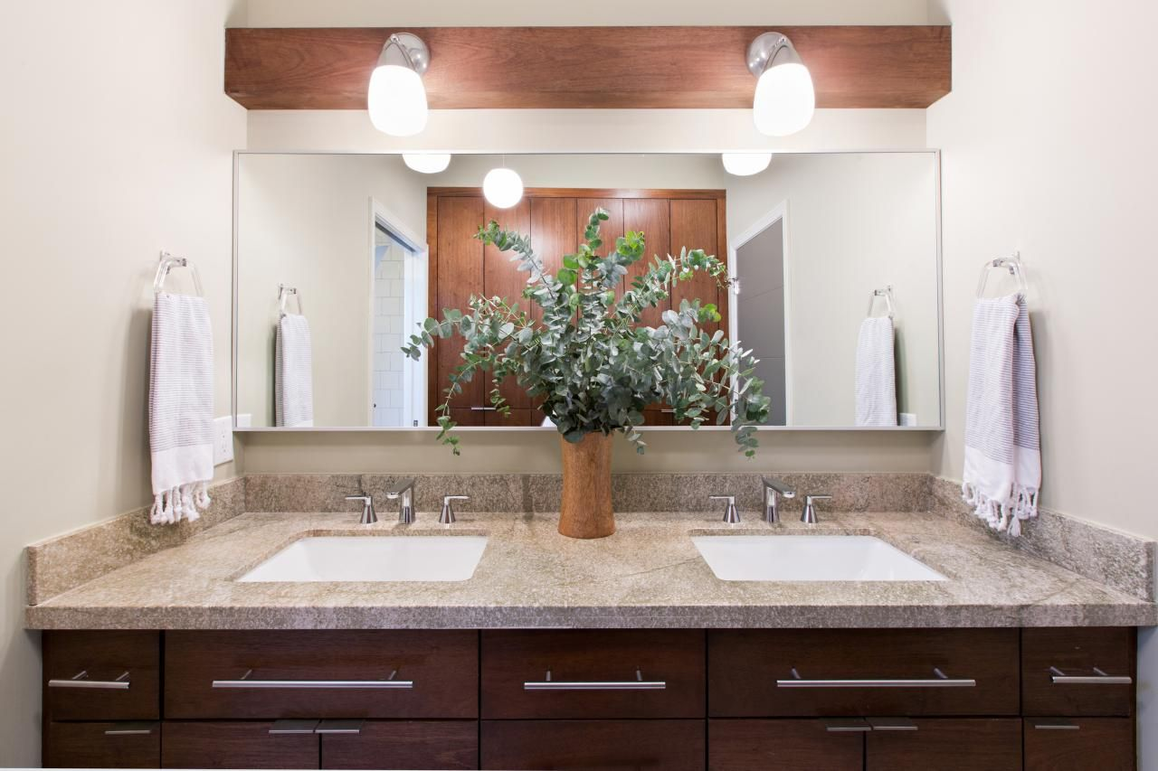 This midcentury modern bathroom was brought back to life with