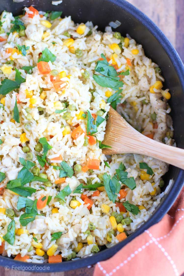 One Pot Chicken And Rice Recipe Healthy Feelgoodfoodie Recipe Healthy Rice Recipes Healthy Chicken Dinner Recipes Using Vegetable Broth