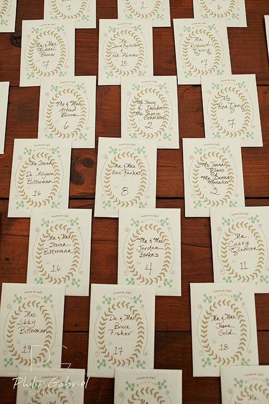"""""""Please be SEEDED"""" Custom herb seed packets which doubled as escort cards and wedding favors.  #KatieFischerDesign #escortcards #seedpacket."""