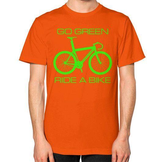 Go Green Men's Short-Sleeve T-Shirt (Green Decal)