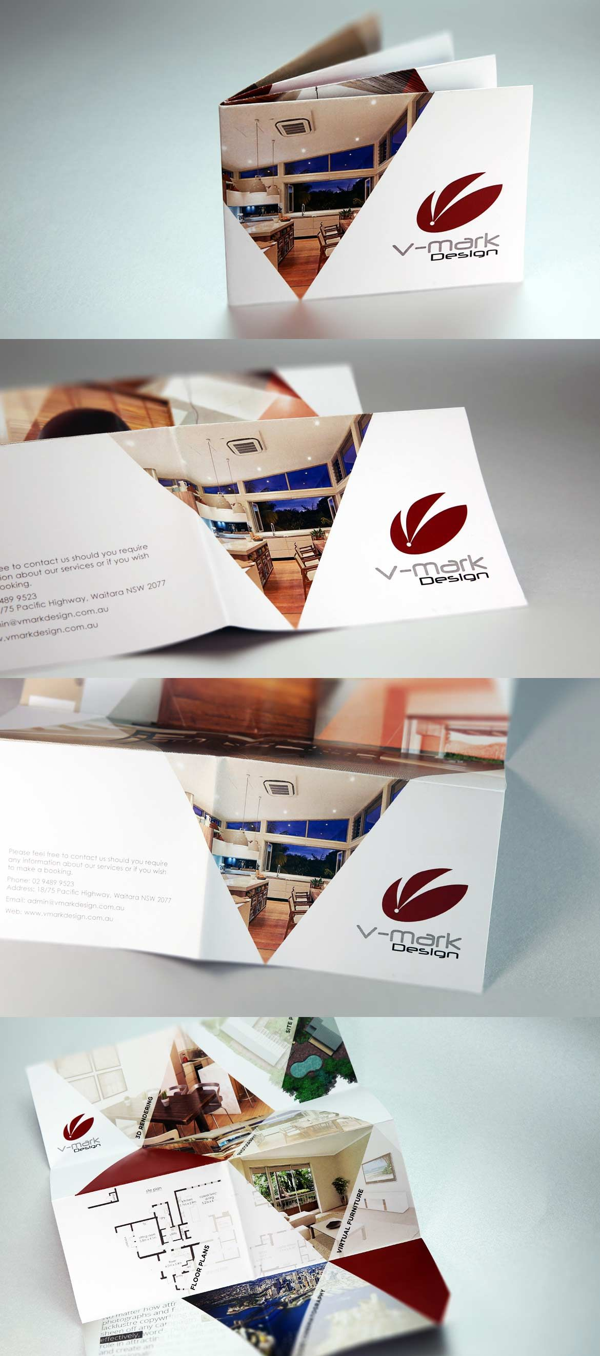 Develop And Design A Foldable Promotional Flyer For VMark Design