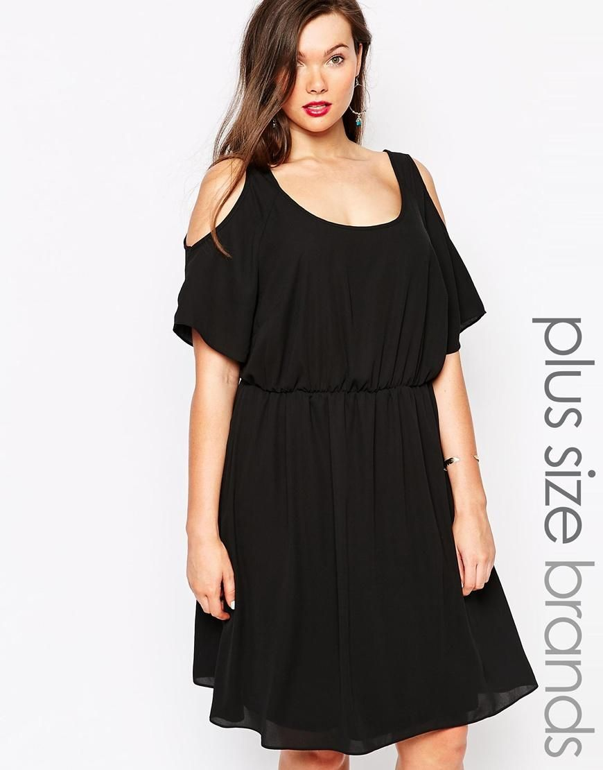New look inspire new look inspire cold shoulder skater dress at