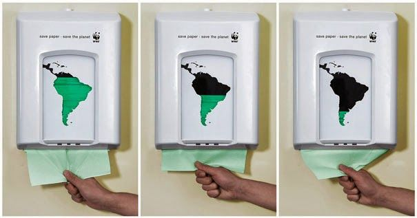 ads WWF – Save Paper – Save the Planet