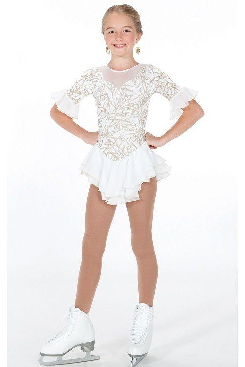 Girls Ice Skating Ballet Dance Dress Kids Roller Skating Leotard Lyrical Costume