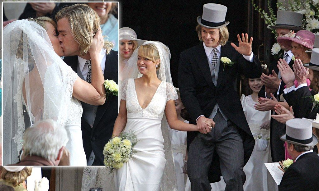 Race To The Altar Chris Hemsworth And Olivia Wilde Recreate The Whirlwind Wedding Of Formula 1 Champion James Hunt And Suzy Miller Melania Trump Wedding Dress Chris Hemsworth Melania Trump Wedding