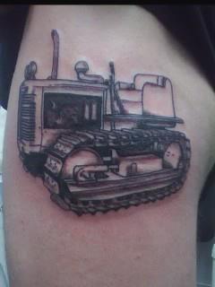 my bro 1950 td6 bulldozer tattoo random coolness pinterest tattoo and tatting. Black Bedroom Furniture Sets. Home Design Ideas
