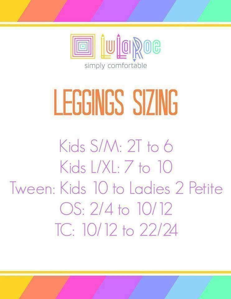 Leggings Size Chart Lularoe