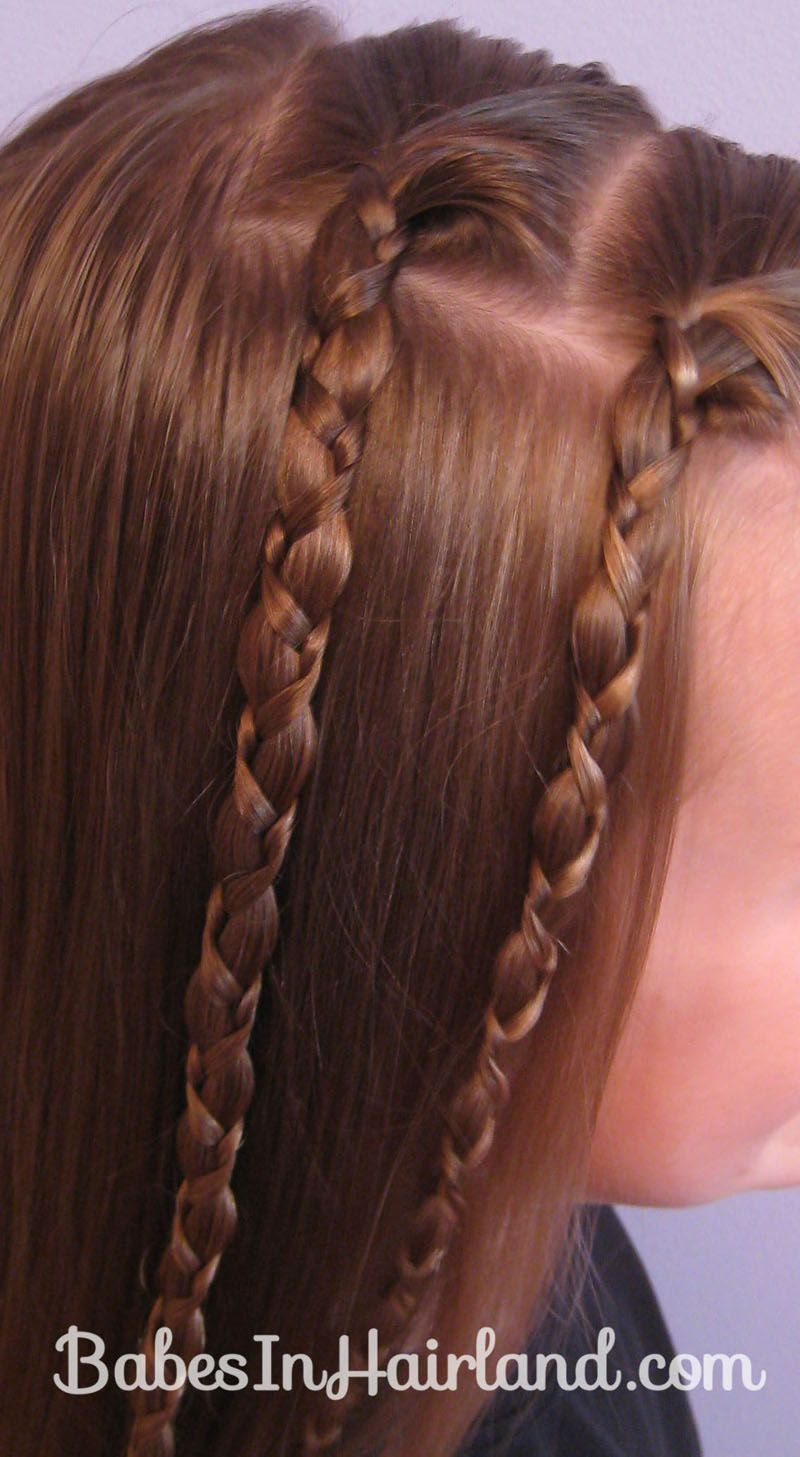Two quick uneven braids braid hairstyles hair dos and ponytail