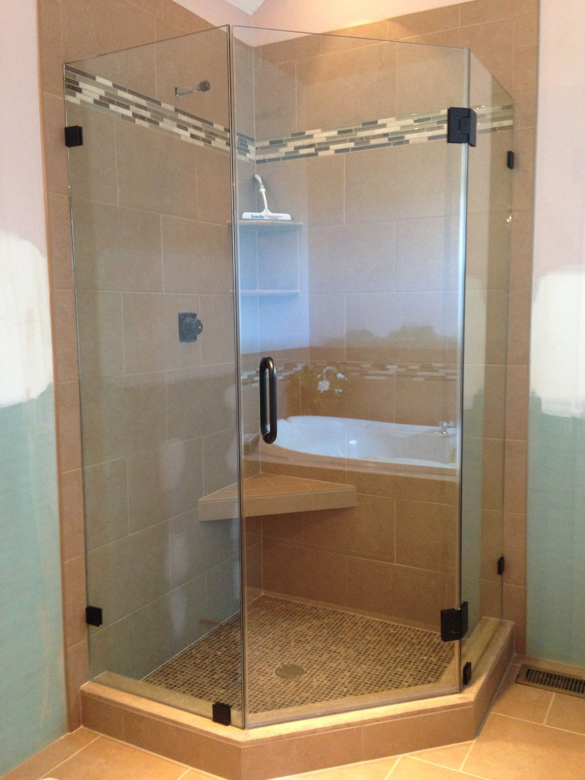 Frameless Shower Door Showerman S Neo Angle Shower Enclosures