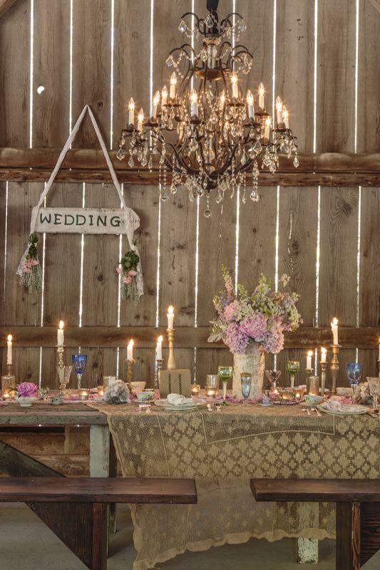 Mesa linda com velas