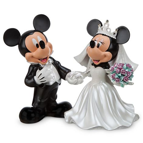4ebd8bfc7710 Mickey and Minnie Mouse collectible wedding figurines  Disney ...
