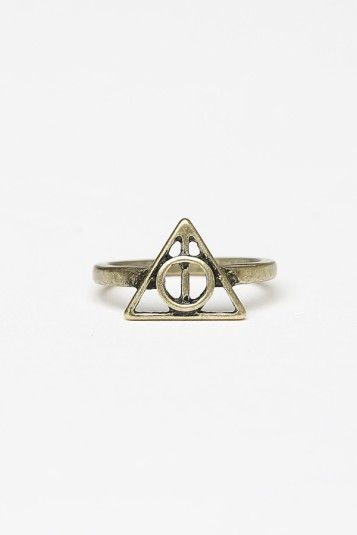 Deathly Hallows ring from Brandy Melville
