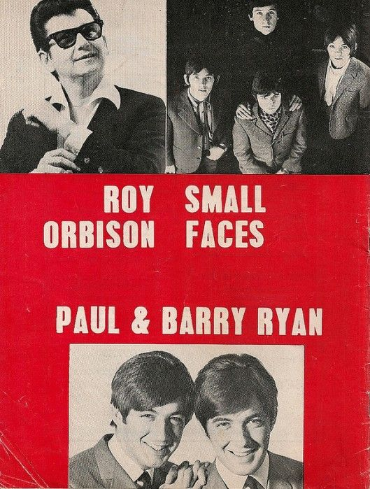 The Small Faces And Roy Orbison 1967 Tour Program Roy Orbison Small Faces Barry Ryan