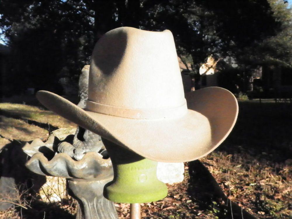 Vintage Resistol Cowboy Hat Cutter Bill Beige Felt 7 1 4 Pre 1980 Touch of  Mink  0bacffa4de9