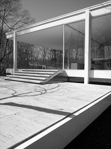 farnsworth house mies van der rohe klassische. Black Bedroom Furniture Sets. Home Design Ideas