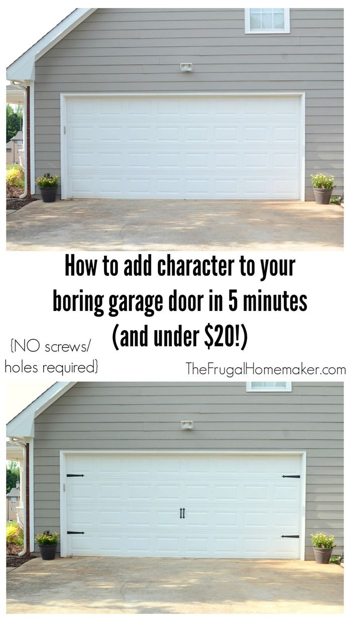 How To Add Character To Your Garage Door In 5 Minutes And For Less