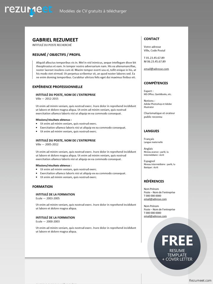 Gastown Modele Gratuit De Cv A Telecharger Resume Template Resume Template Free Resume Tips