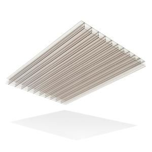 Lexan Thermoclear 48 In X 96 In X 1 4 In Clear Multiwall Polycarbonate Sheet Pctw4896 6mmcl The Home Depot Polycarbonate Roof Panels Polycarbonate Panels Plastic Lattice