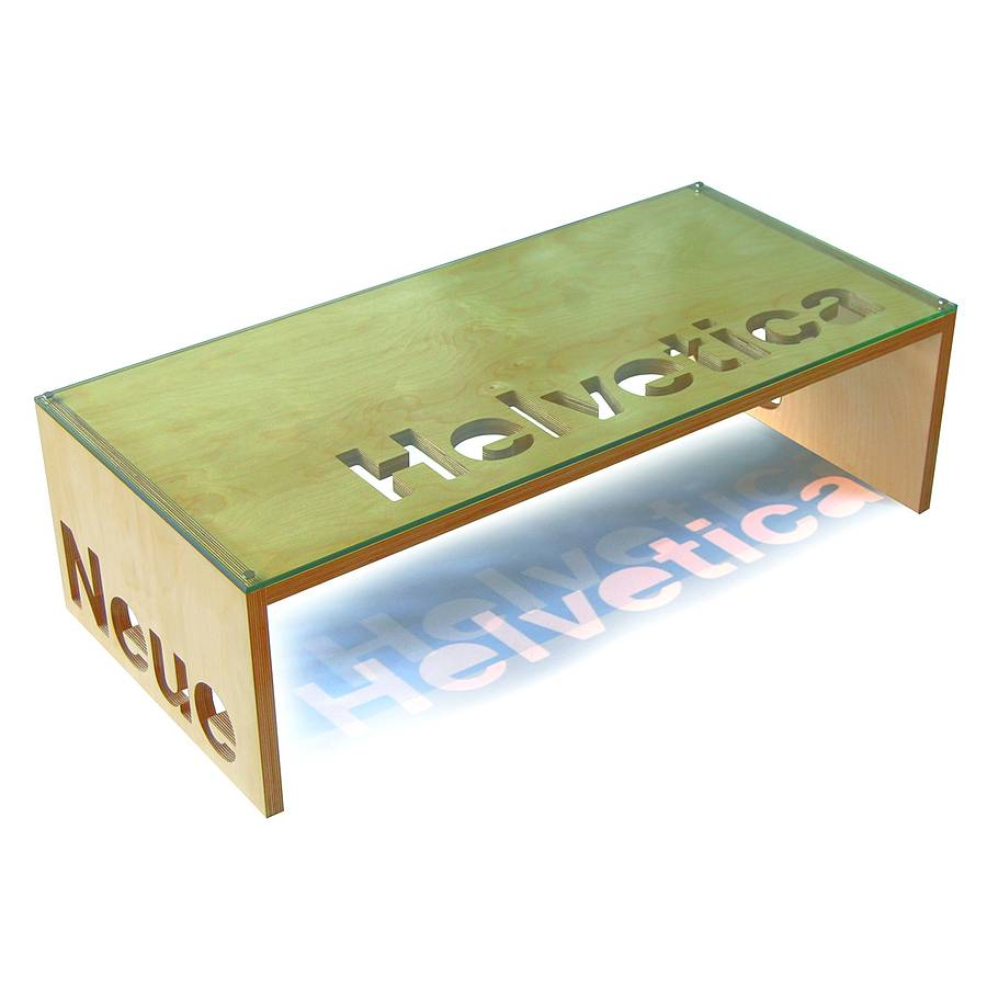 Personalised Birch Plywood Coffee Table Coffee Table