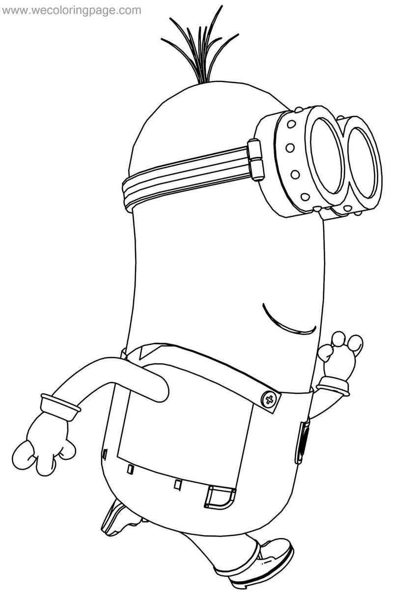 cool Kevin Bob Despicable Me 2 Minions Coloring Page | Minion ... | 1206x800