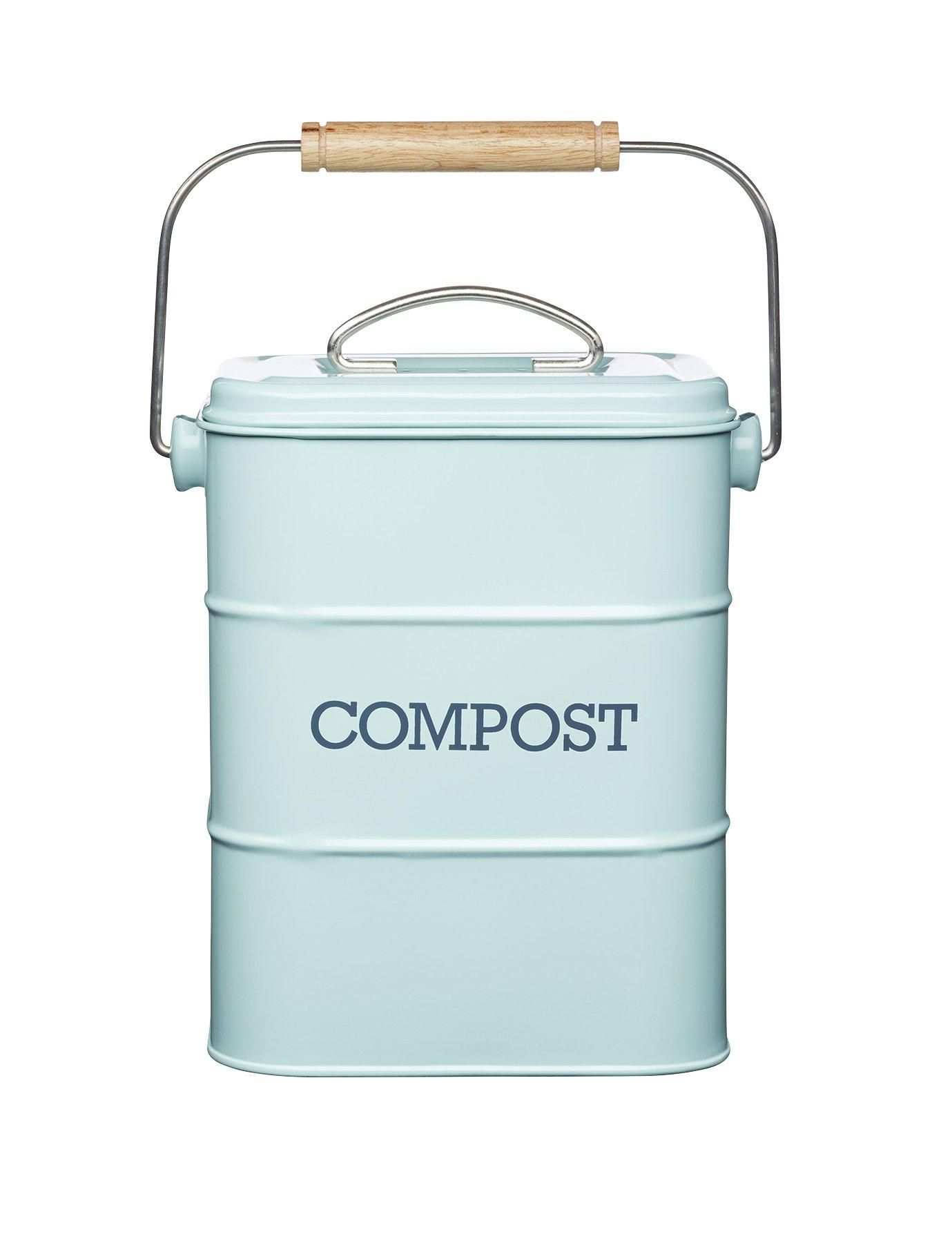 Stylish yet practical, this vintage blue compost bin is perfectly ...