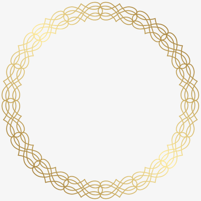 Golden Round Text Box Free Clip Art Vintage Picture Frames Circle Borders