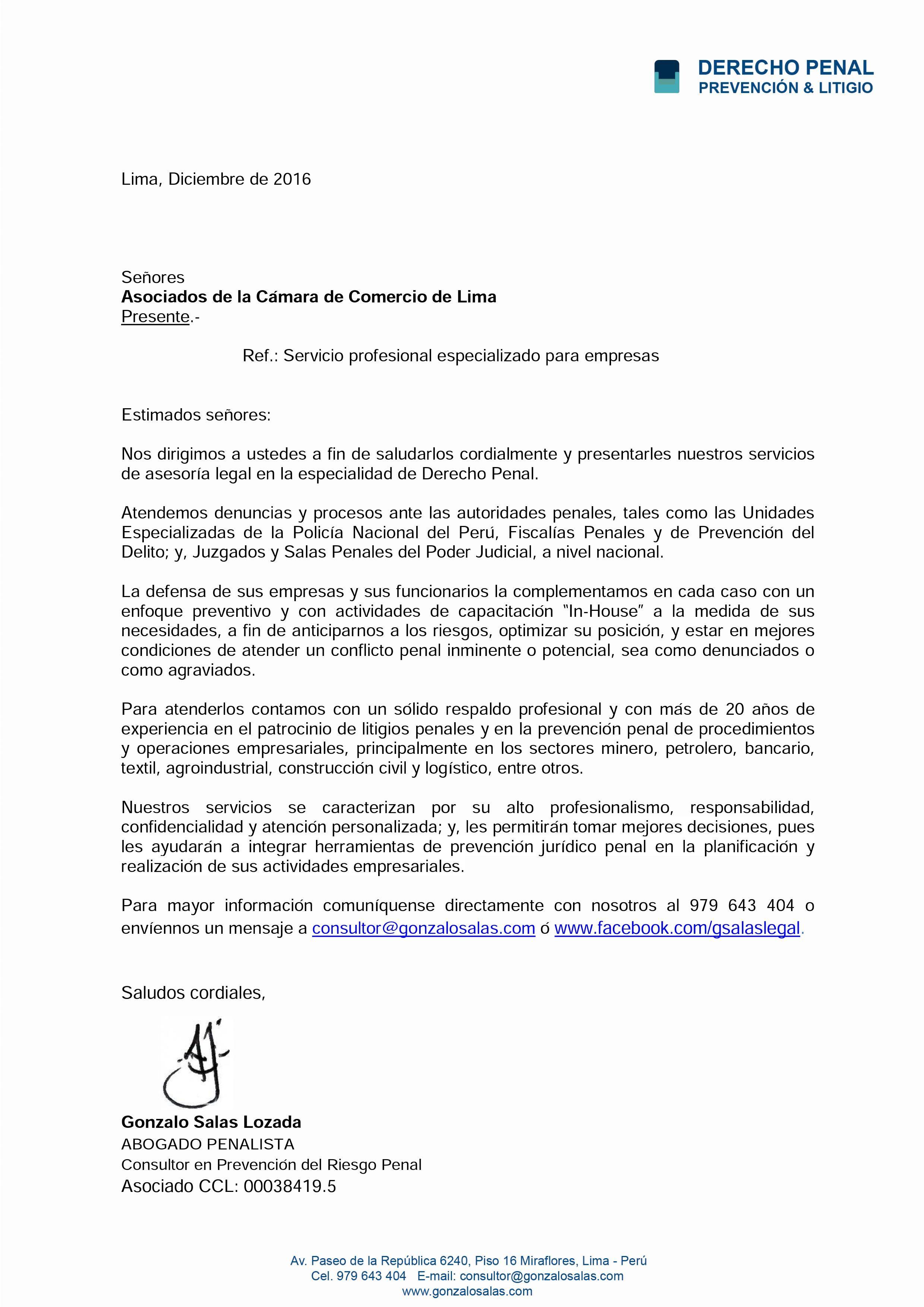 Carta para Asociados a la CCL | Digitación Especial | Pinterest