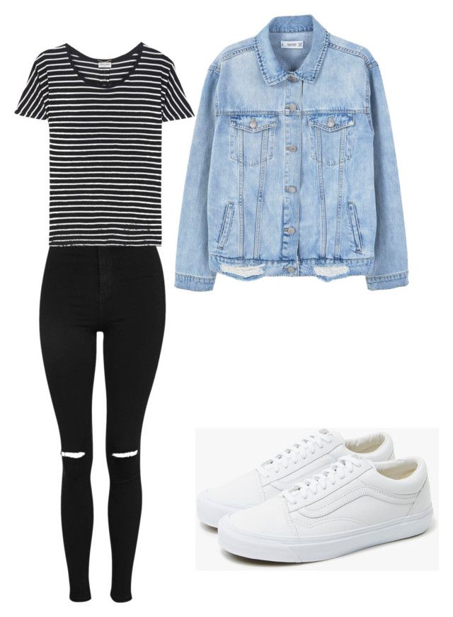 """Sin título #8"" by sollange-nanco on Polyvore featuring moda, Topshop, Yves Saint Laurent, MANGO y Vans"