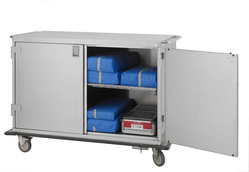 Large Double Door Case Cart - Low Profile Stainless steel construction cart -washable.  sc 1 st  Pinterest & Large Double Door Case Cart - Low Profile Stainless steel ...